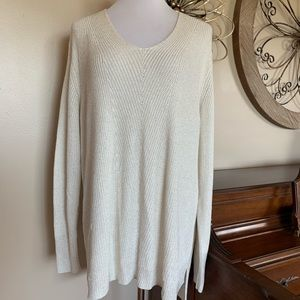 NWT Chaps Size 2X Cream Sweater with Sparkle